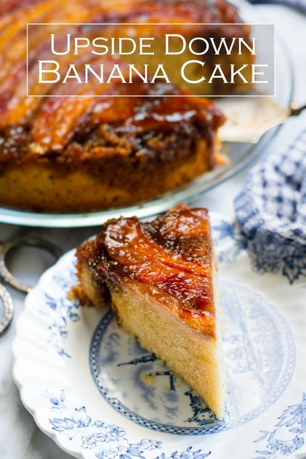 I love the old fashioned Banana Cake. However, this upside down Salted Caramel Banana Cake recipe is a keeper. It is so easy to bake. This banana cake is moist, sticky and delicious. #bananacake #upsidedowncake