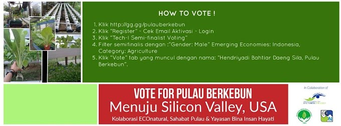 Ayo Dukung, Indonesia Bisa! Pulau Berkebun Menuju Silicon Valey