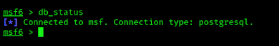 metasploit database connection