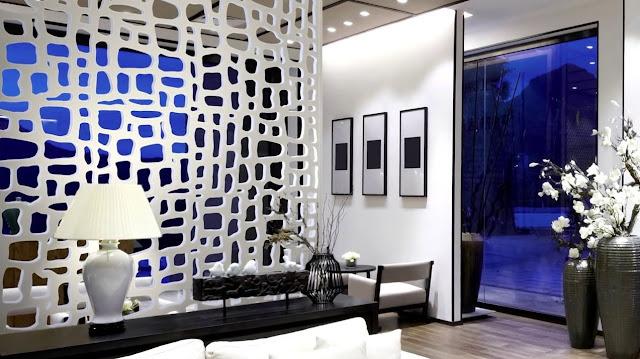 wooden Living Room Divider Design Ideas