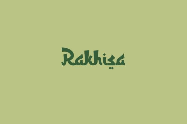 Font rakhisa ttf