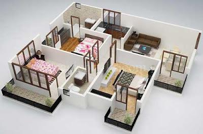 ide desain rumah sederhana 6x12