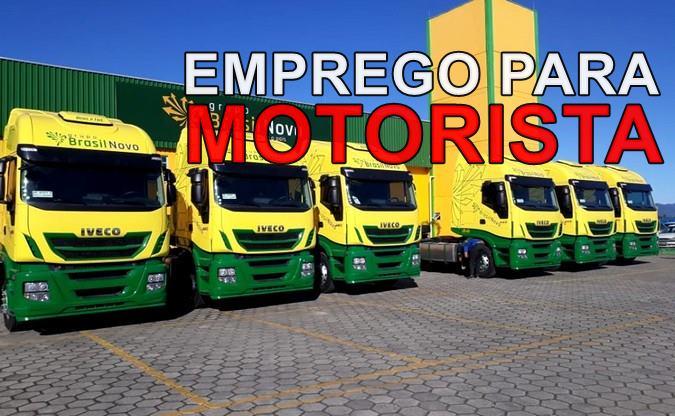 Transportadora Brasil Novo abre novo processo seletivo para Motorista