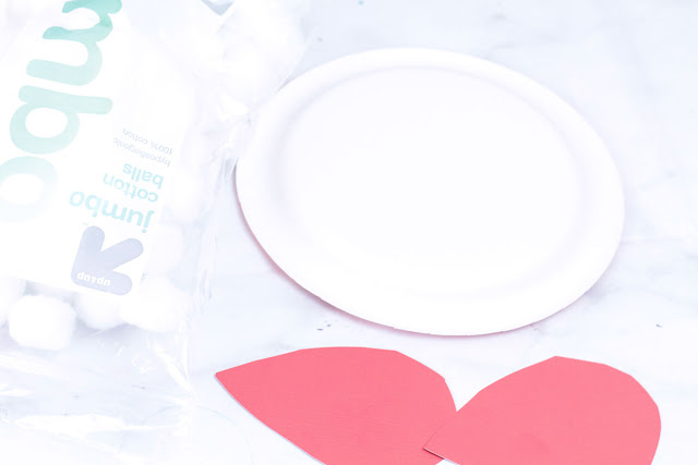 presidents day craft for kids using paper plates, cotton balls