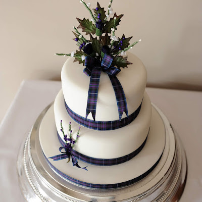 2 Tier Scottish Wedding Cake