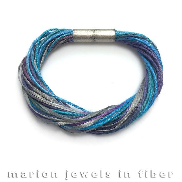 Multi Strand Linen Bracelet with Silk Tape Tutorial