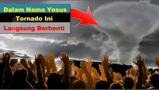 Video Bikin Merinding, Nama Yesus Dipanggil Tornado Besar Langsung Berhenti