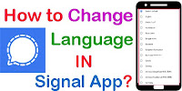 How Tochange language Signal For Android