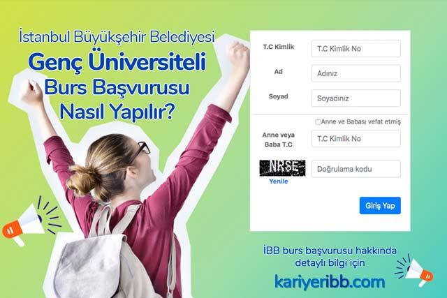 İstanbul Büyükşehir Belediyesi üniversite öğrencilerine burs veriyor. Genç Üniversiteli burs başvurusu nasıl yapılır? Detaylar kariyeribb.com'da!