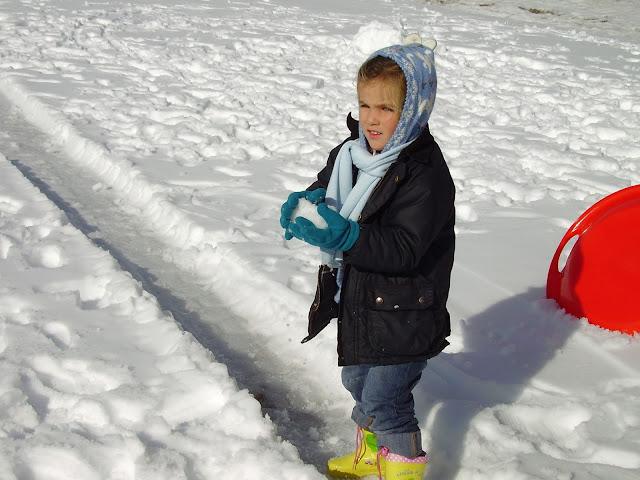 Macarena en la nieve