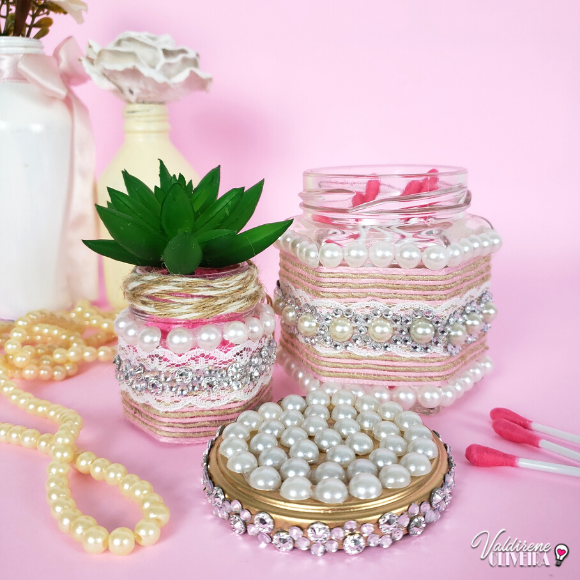 diy pote de vidro decorado - valdirene oliveira