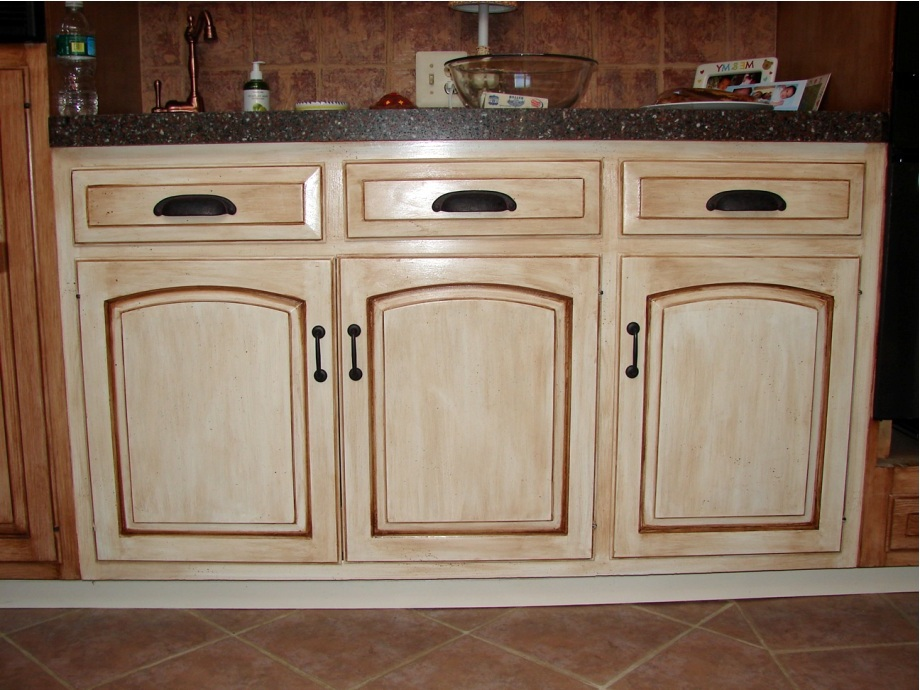 how to stain kitchen cabinets without sanding - kitchen remodel