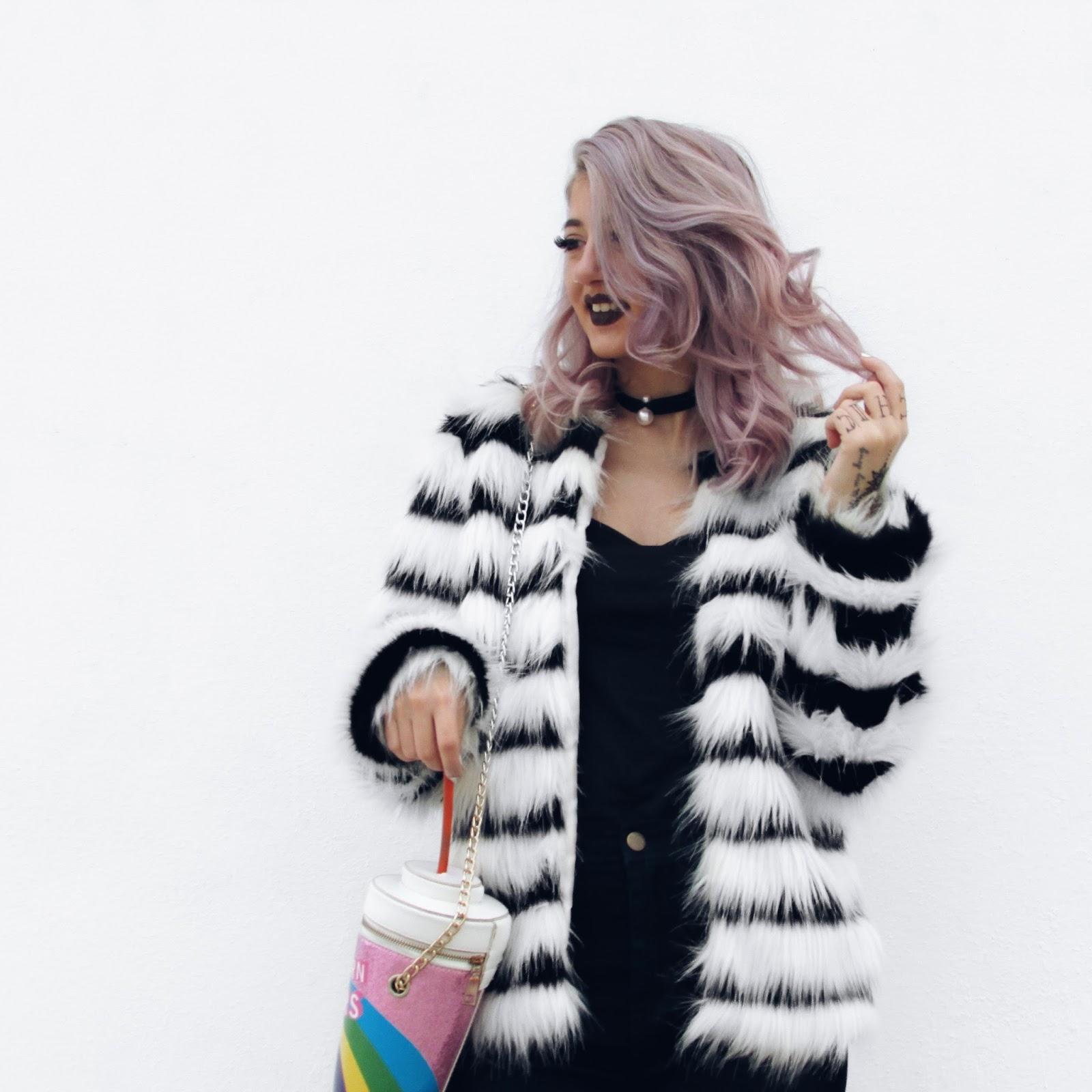 faux fur street style 2016