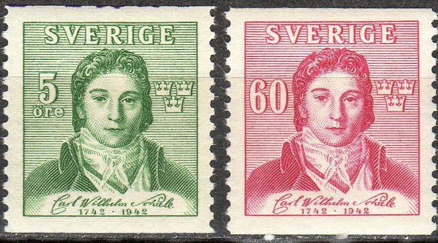 Sweden - 1942 Carl von Scheele (Chemist)