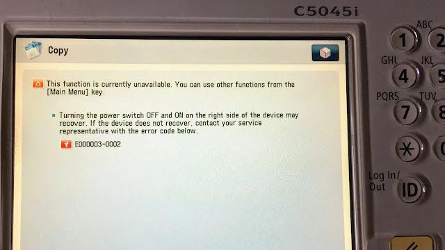canon c5045 error e000000-0000