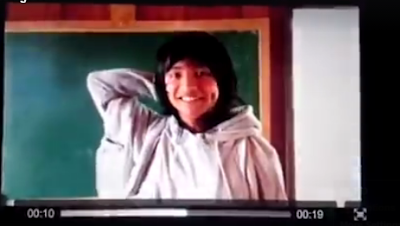 Screencap of Carrot Man's adorable reaction from the exclusive video