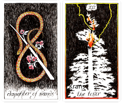 Wild Unknown Tarot Daughter of Wands The Tower Kim Krans