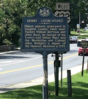 Derry Churchyard Historical Marker in Hershey Pennsylvania