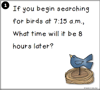 Elapsed TIme Task Card Center 2