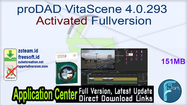 proDAD VitaScene 4.0.293 Activated Fullversion