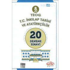 Editör 8.Sınıf TEOG TC İnkılap Tarihi ve Atatürkçülük 20 Deneme Sınavı (2016)