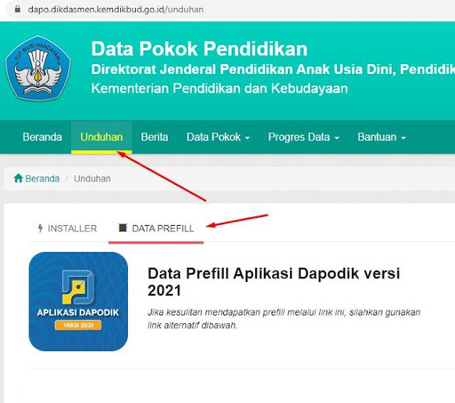 Cara Registrasi Offline Aplikasi Dapodik 2021 Dengan Mudah Menggunakan Prefill Tahun Pelajaran 2020/2021