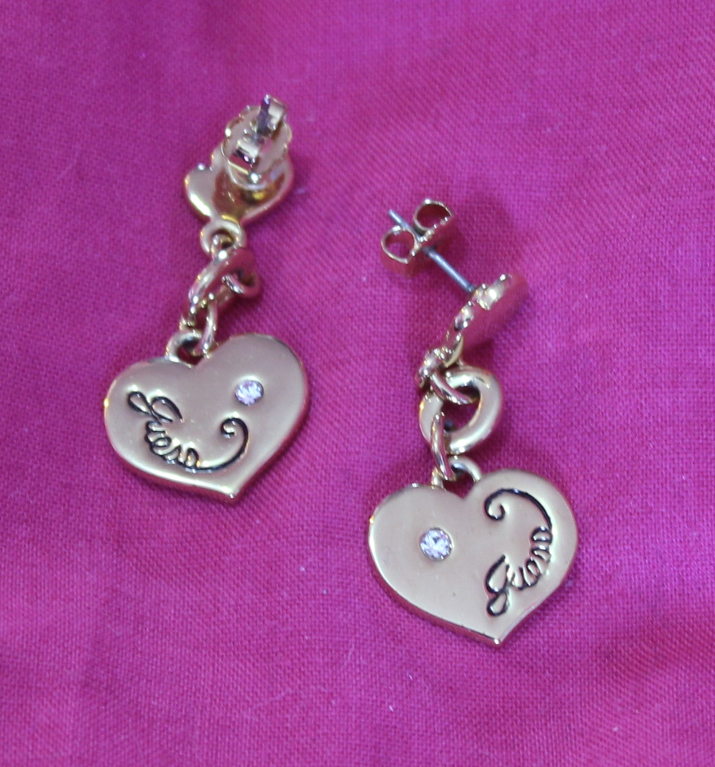 Guess Gold Heart Earrings