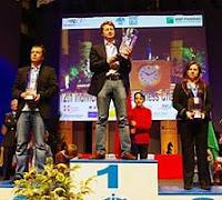 Podio del Campeonato de Europa Absoluto Individual de Ajedrez 2011