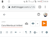 Cara Membuat Artikel Blogger