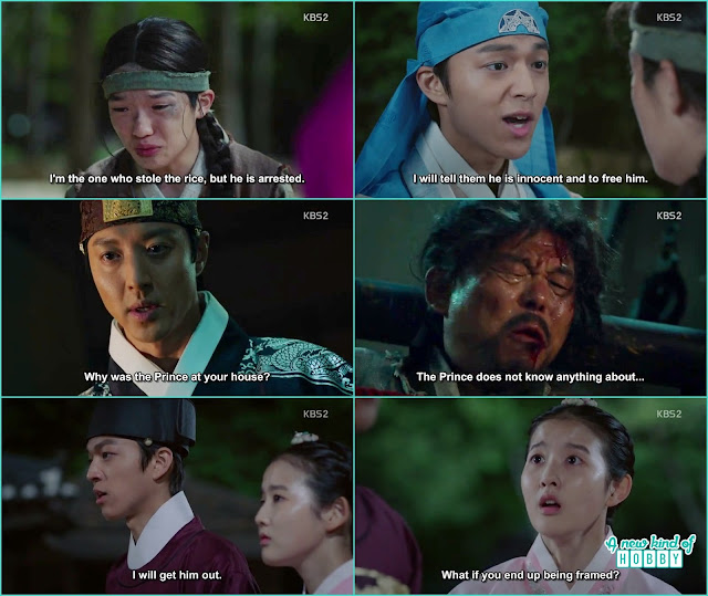 seo no told prince yeok some people took his grandfather - Seven Day Queen: Episode 3 korean Drama