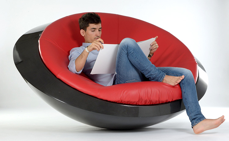 futuristic chair rocks