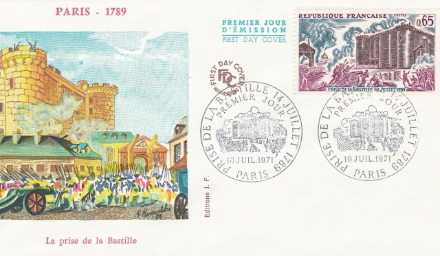 France FDC depicting the storming of the Bastille