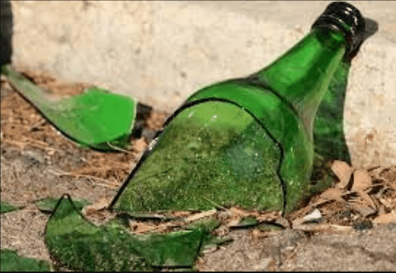 Beer bottle broken