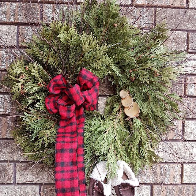Birch Twig and cedar wreath, I Windowshop.ca