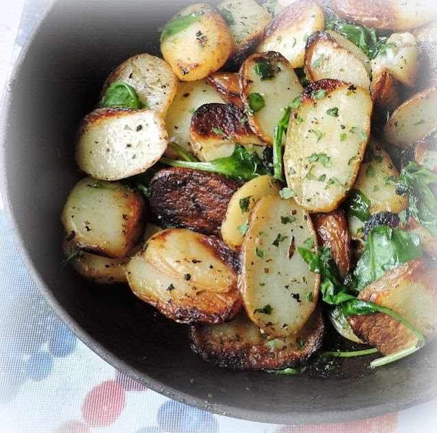 Slow-fried Lemon & Oregano Potatoes