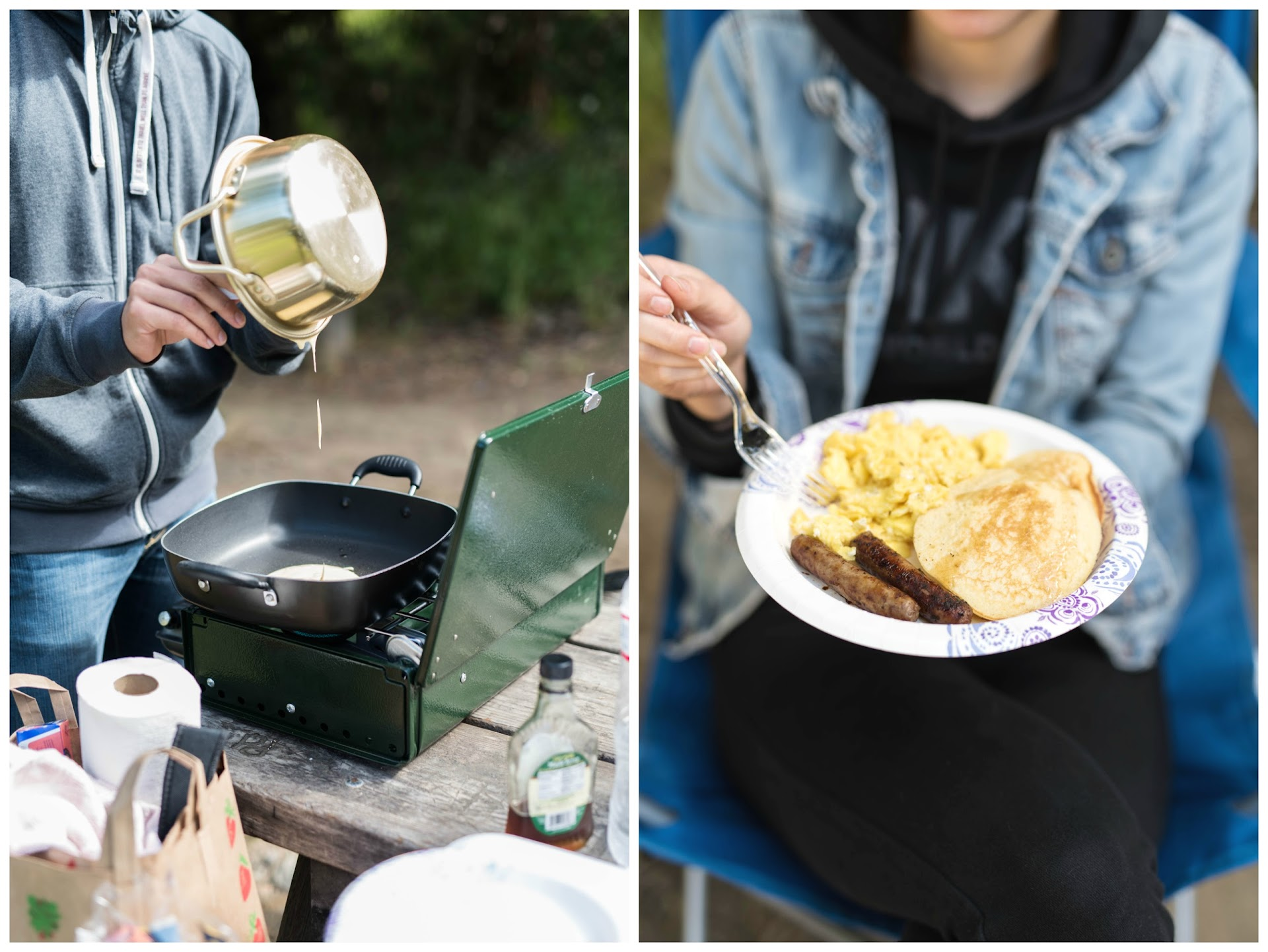cooking with a camp stove, camp food ideas, camping in big sur, pfieffer state park, travel blogger
