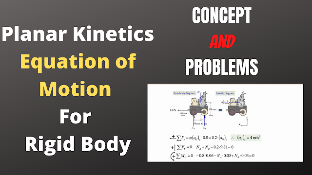 Equations of motion   planar kinatics equations of motion for Rigid Body   Solved Problems