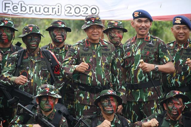 Polda Sumsel Giat Latihan One Day Jungle Warfare