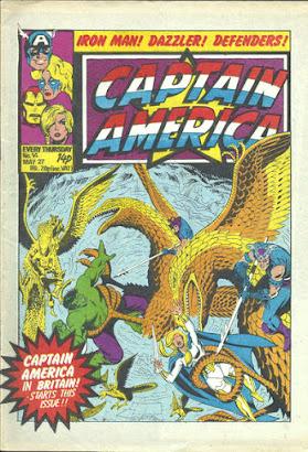 Captain America #14, Marvel UK, the Defenders