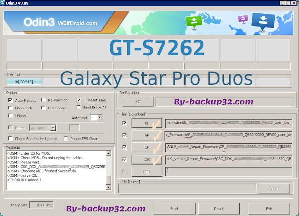 سوفت وير هاتف Galaxy Star Pro Duos موديل GT-S7262 روم الاصلاح 4 ملفات تحميل مباشر