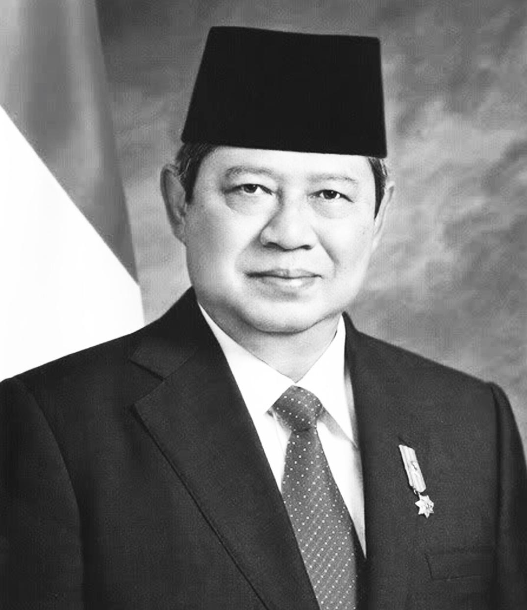 Presiden Susilo Bambang Yudhoyono hitam putih