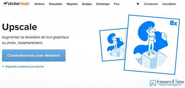 Upscale : un outil gratuit pour agrandir les images jusqu'à 8x sans perte de qualité