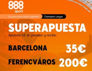 888sport superapuesta Barcelona vs Ferenvaros 20-10-2020
