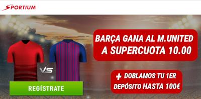 tium supercuota 10 Barcelona gana al Manchester United + 100€ 10 abril 2019