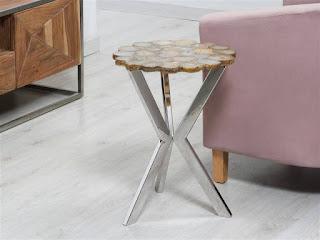 Mesa baja redonda para el salon actual