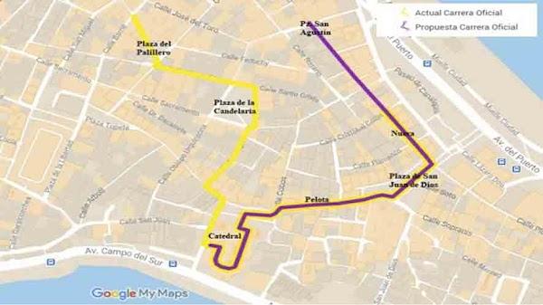 Un Estudio propone una carrera oficial de Cádiz más corta para favorecer al crecimiento de Hermandades en Extramuro