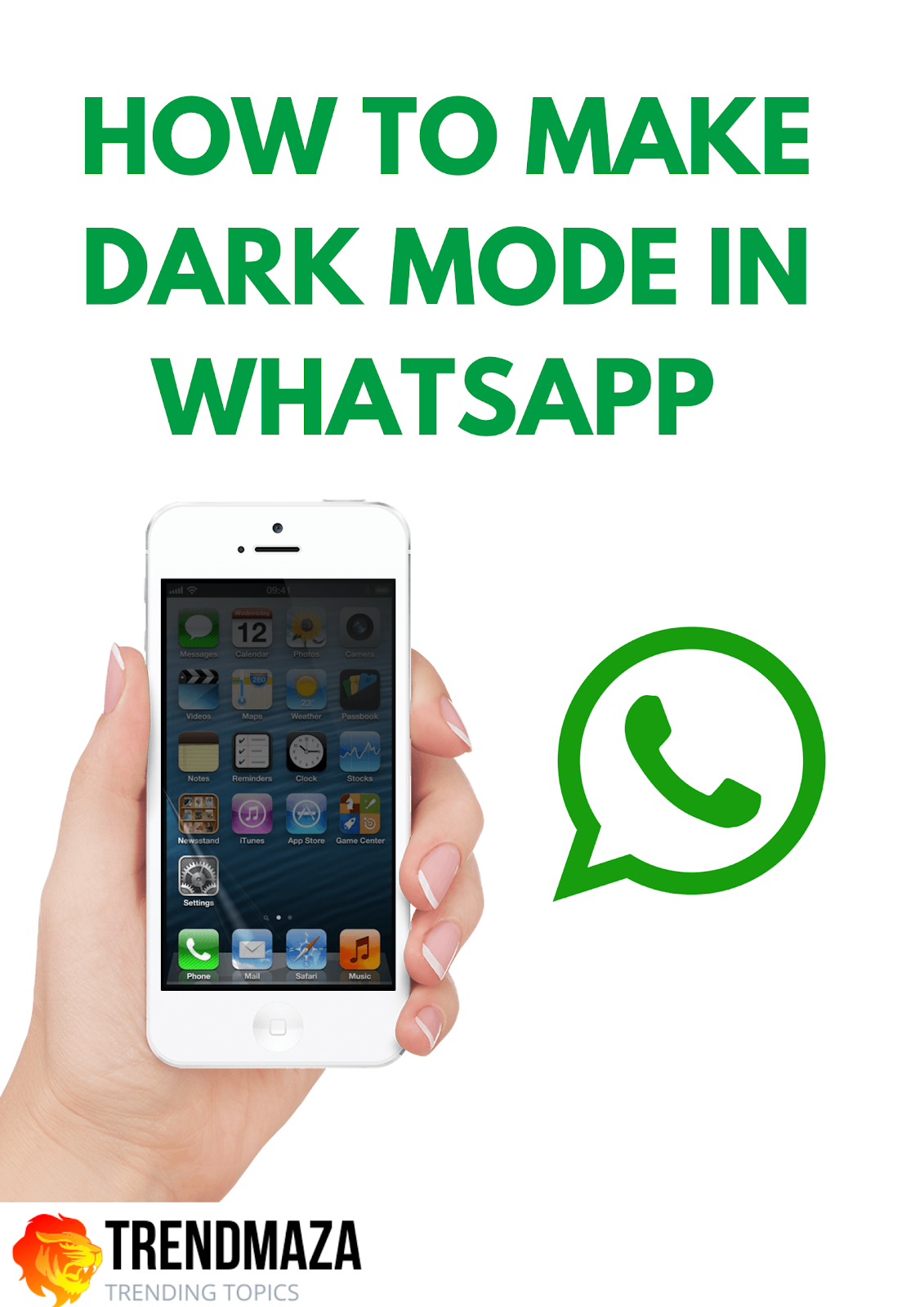 make WhatsApp black For ios and android