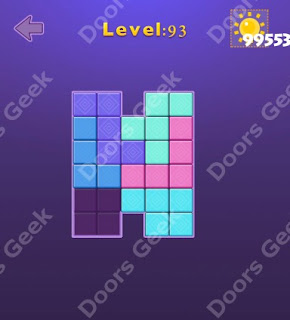 Cheats, Solutions, Walkthrough for Move Blocks Easy Level 93