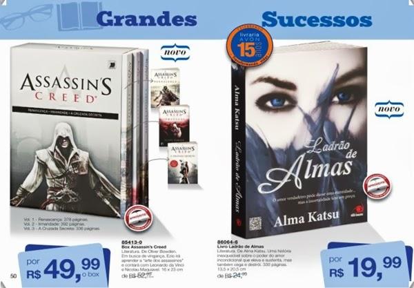 Livros Assassin's Creed, box, livro Ladrão de Almas, mais baratos, com desconto, Avon