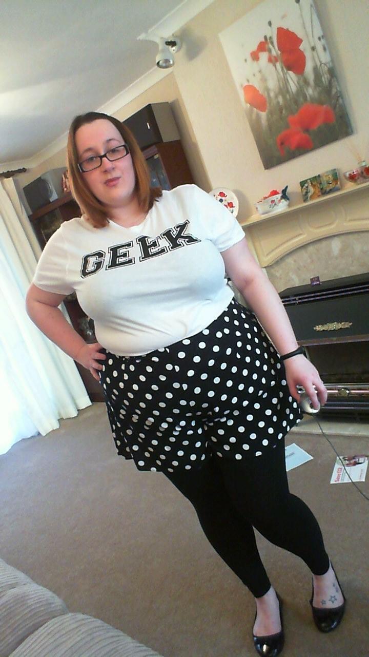 Teen chubby geek